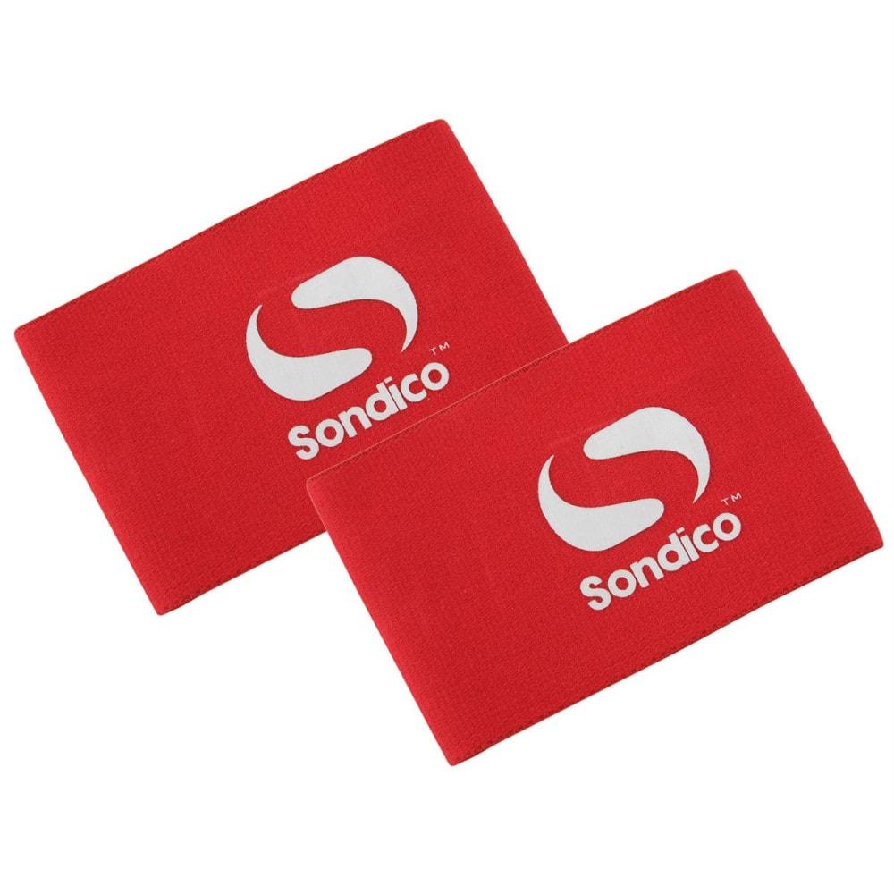SONDICO Men's Shin Guard Stays - RED/WHITE