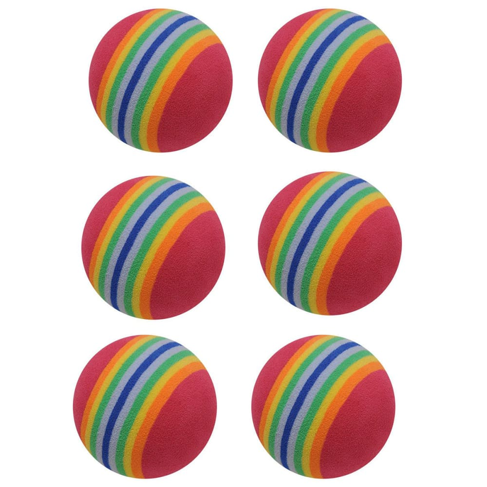 Dunlop Foam Balls, 6 Pack - Various Patterns, ONESIZE