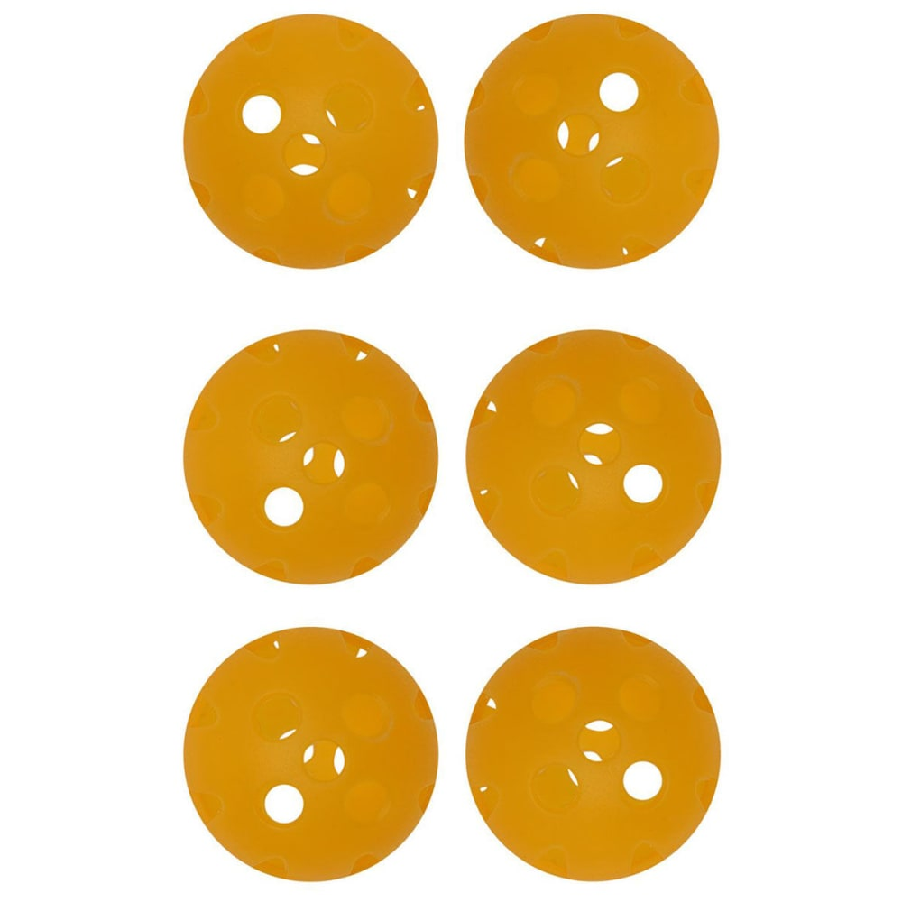 Dunlop Air Golf Balls, 6 Pack - Yellow, ONESIZE