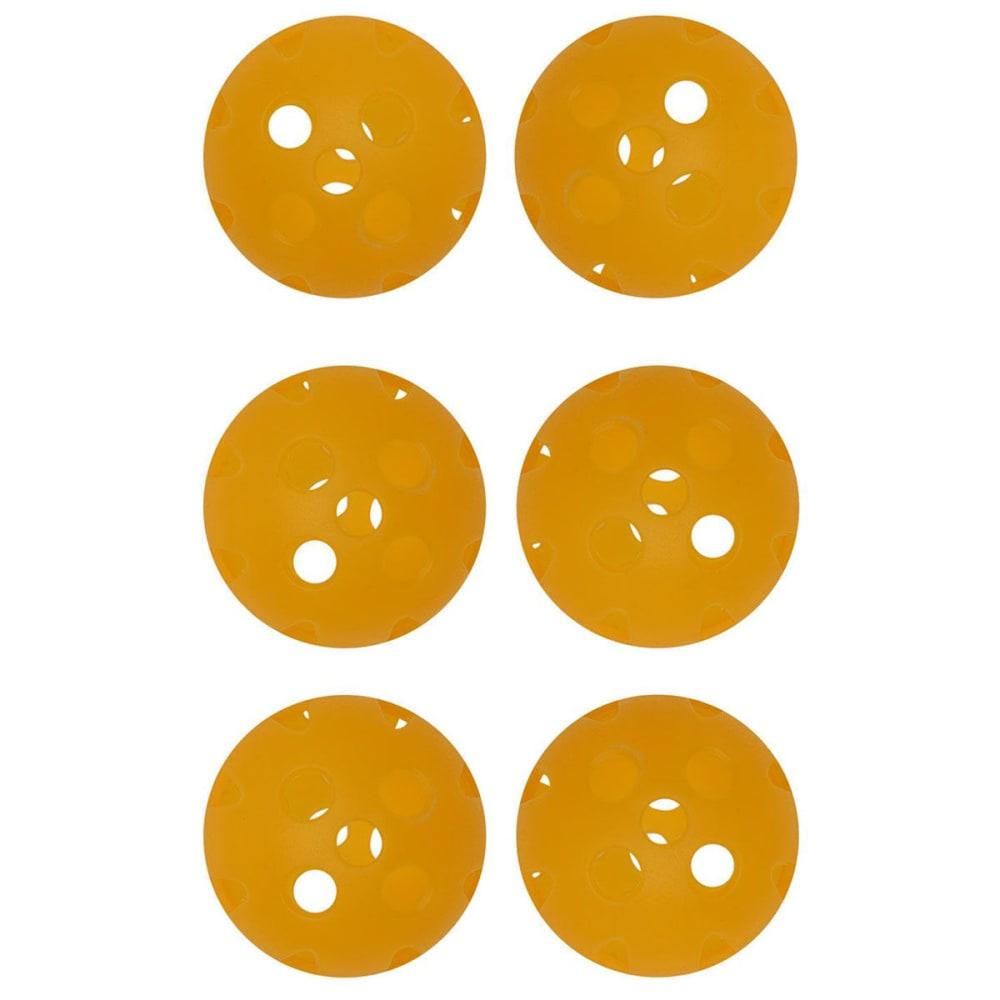 DUNLOP Air Golf Balls, 6 Pack - YELLOW