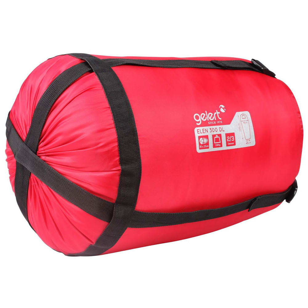 GELERT Elen 300 Mummy Sleeping Bag - RASPBERRY