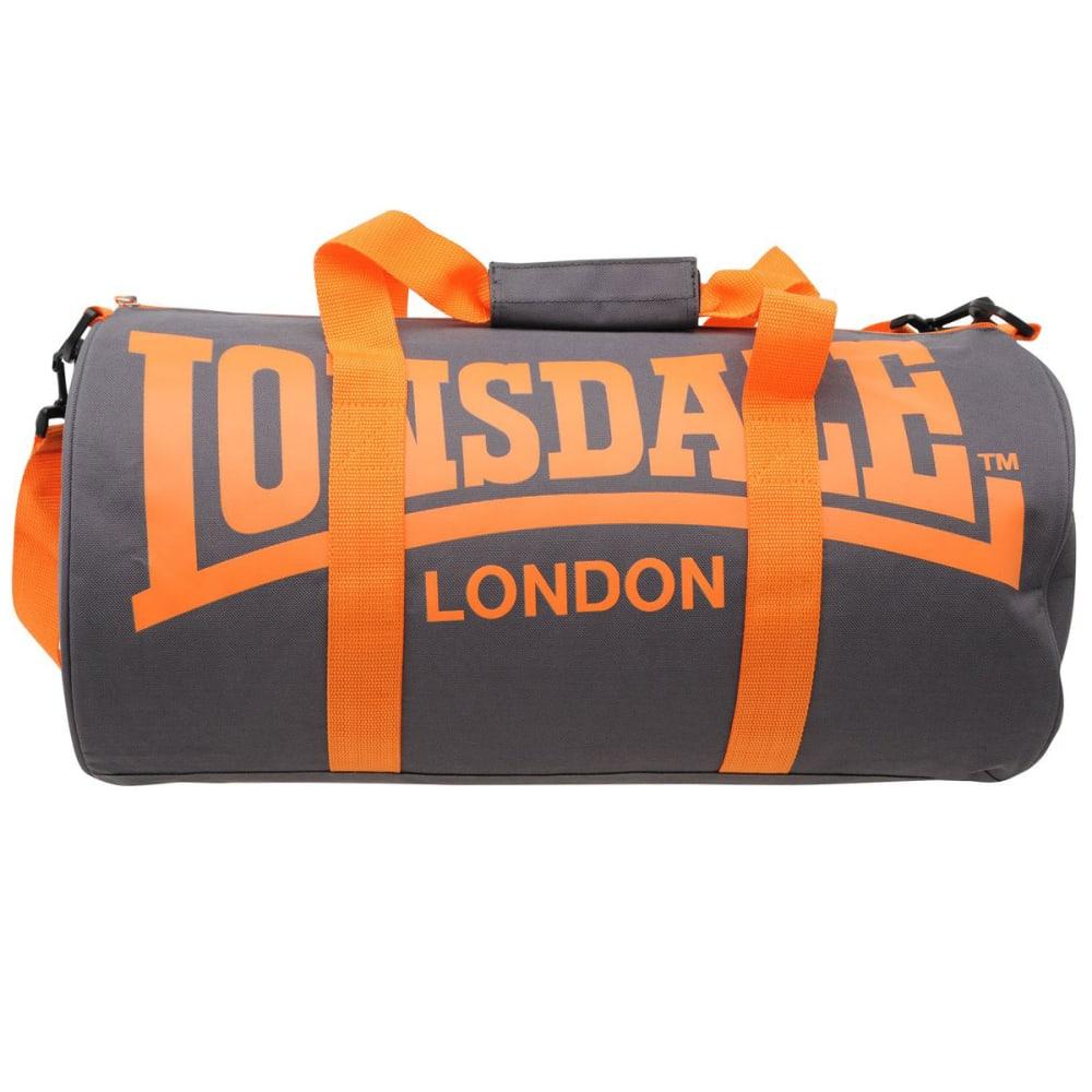 LONSDALE Barrel Bag - CHARCOAL/ORANGE