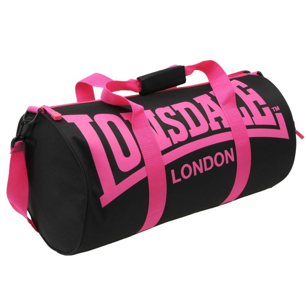 LONSDALE Barrel Bag - BLACK/PINK