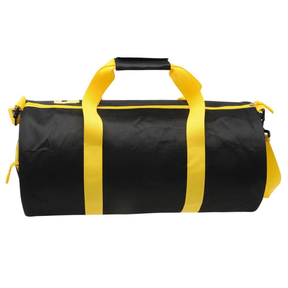 LONSDALE Barrel Bag - BLACK/YELLOW