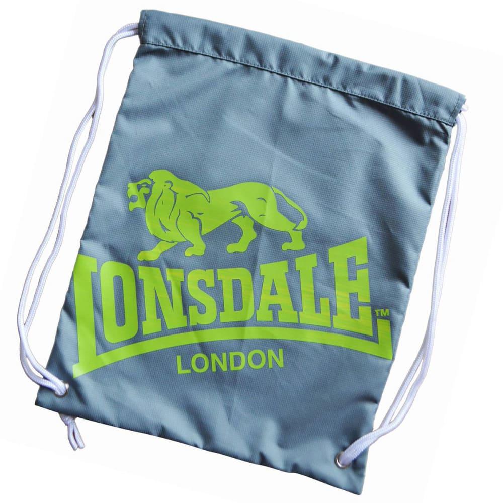 LONSDALE Printed Gym Sack - CHARCOAL/LIME