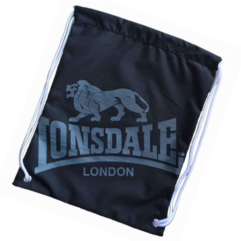 LONSDALE Printed Gym Sack - BLACK/CHARCOAL