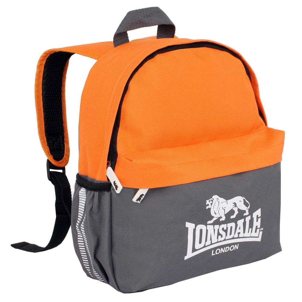 LONSDALE Mini Backpack - CHARCOAL/ORANGE
