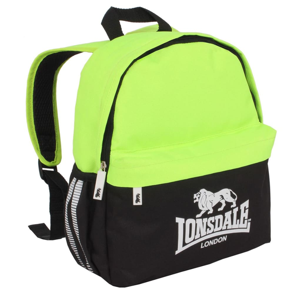 LONSDALE Mini Backpack - BLACK/LIME