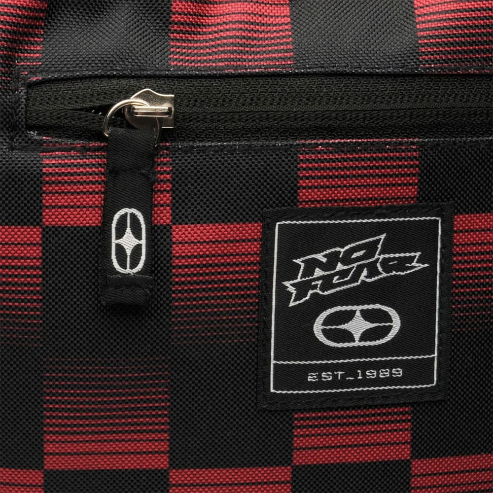 NO FEAR Check Backpack - RED/BLACK
