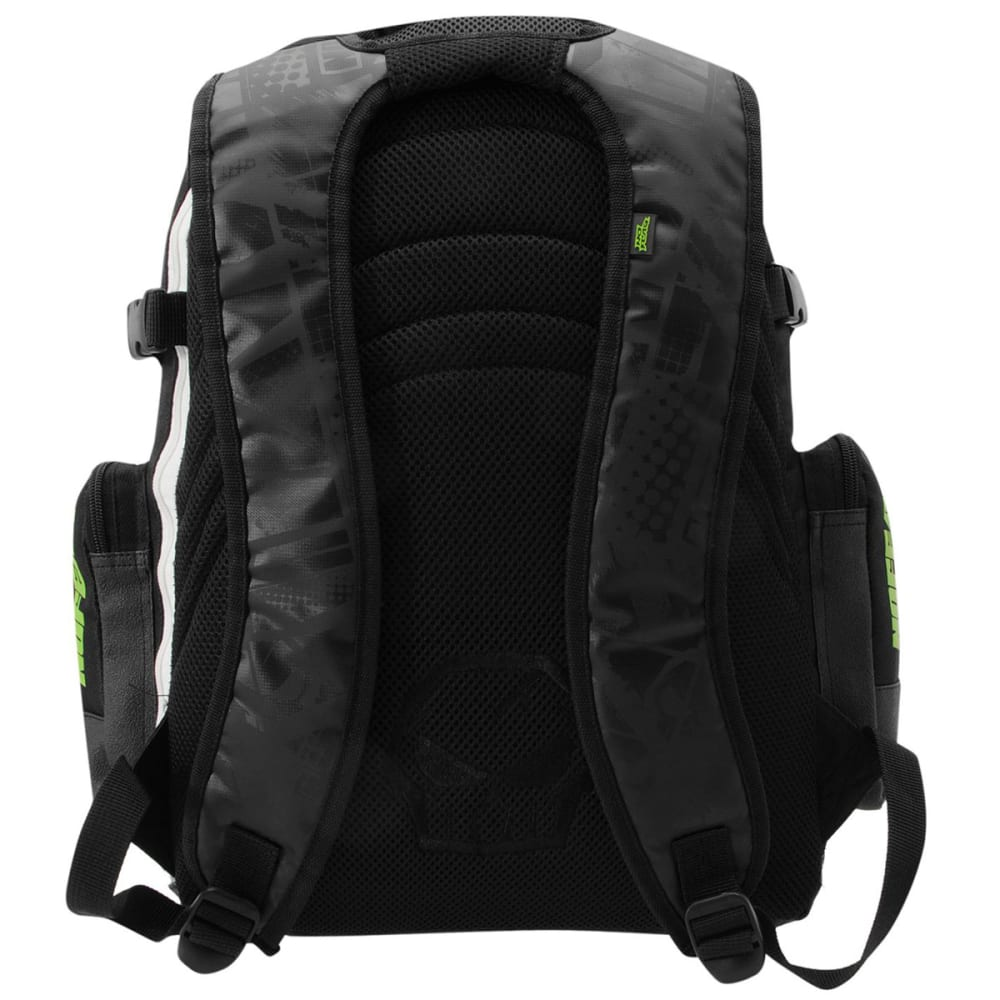 NO FEAR MX Backpack - Black/White/Grn
