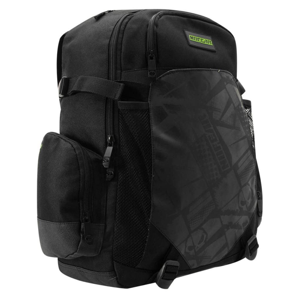 NO FEAR MX Backpack - Black/White/Grn