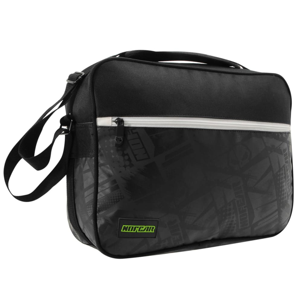 NO FEAR MX Flight Bag - Black/White/Grn
