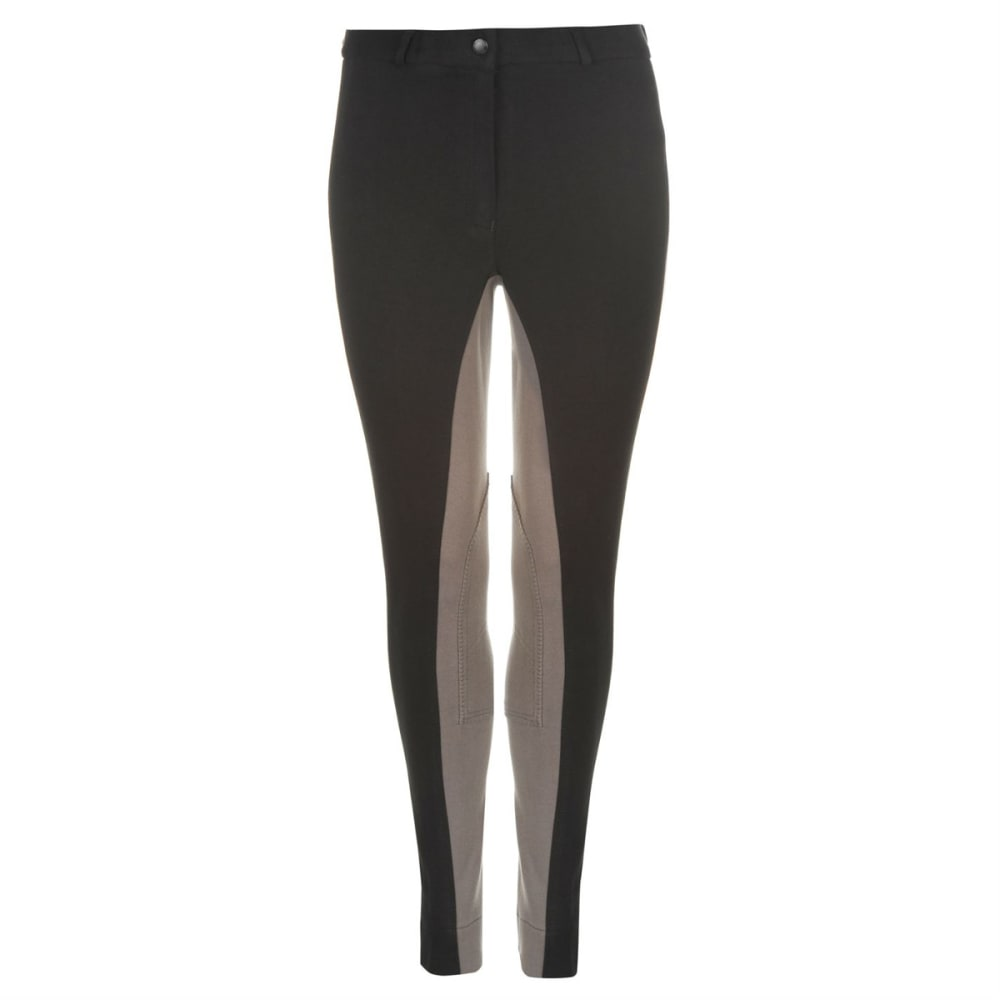 REQUISITE Women's Two Tone Jodhpur Pants - BLACK/GREY