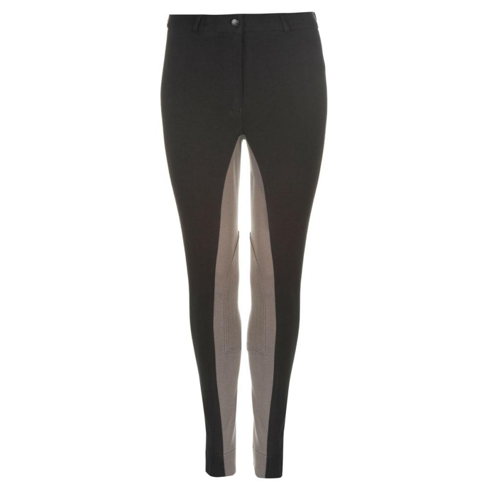 REQUISITE Women's Two Tone Jodhpur Pants - BLACK/GREY