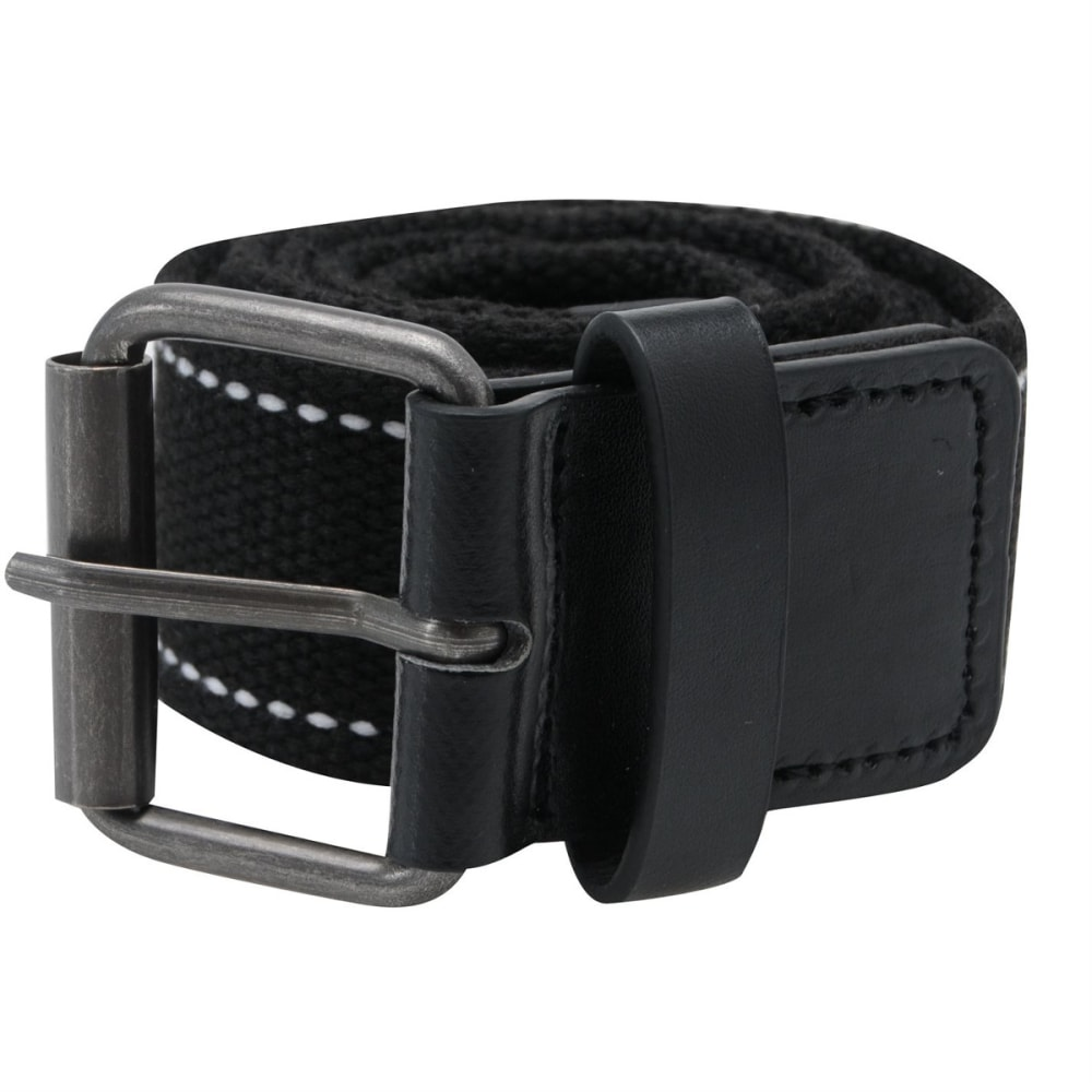 Fabric Texted Belt - Black, S