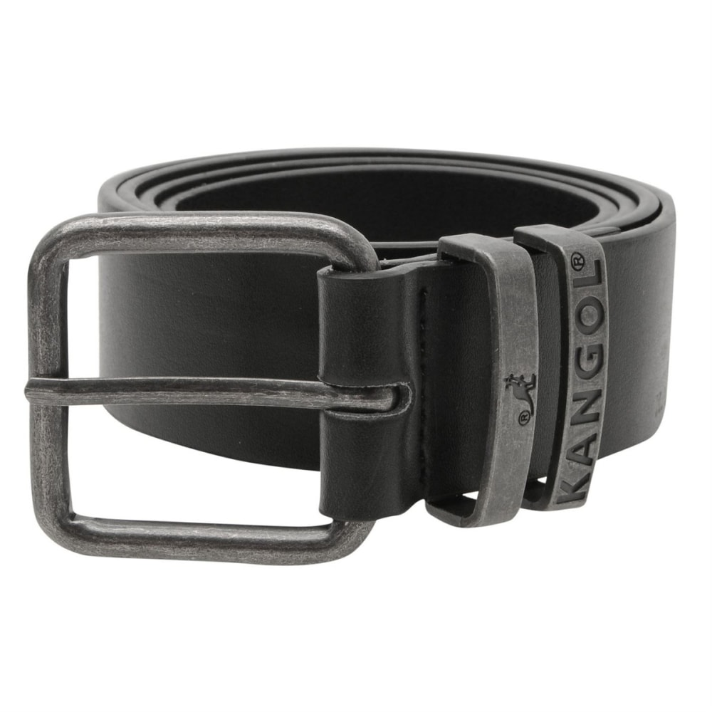 KANGOL Men's Double Loop Belt - BLACK