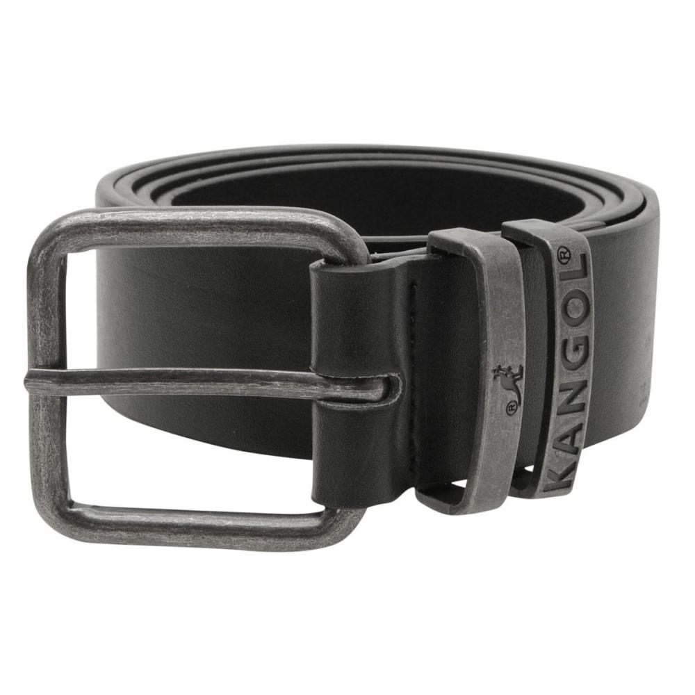 KANGOL Men's Double Loop Belt - BLACK