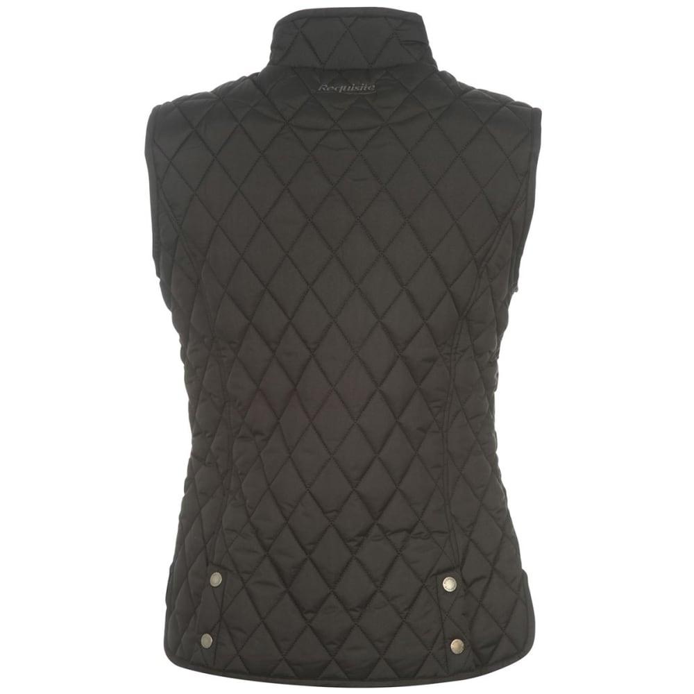 REQUISITE Women's Quilted Vest - BLACK