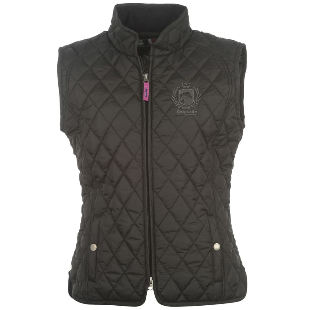 REQUISITE Women's Quilted Vest - BLACK
