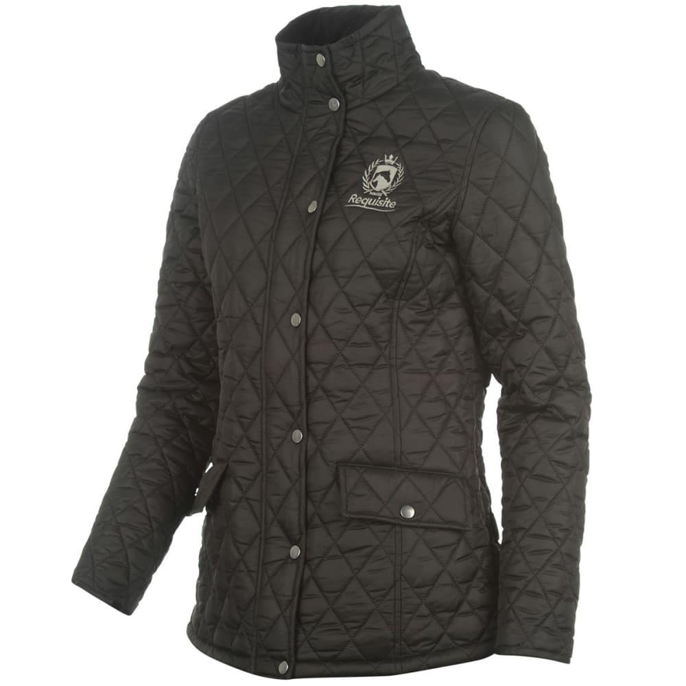 REQUISITE Women's Quilted Jacket - BLACK