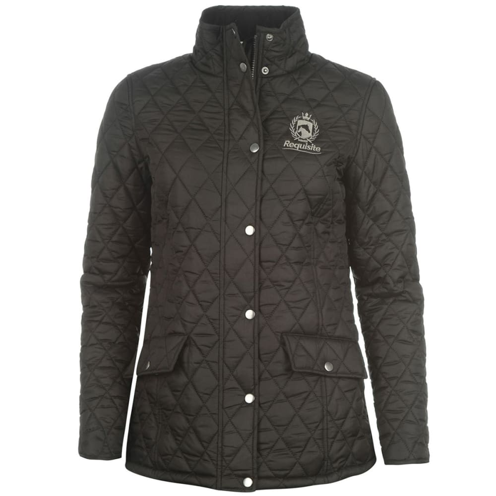 REQUISITE Women's Quilted Jacket - BLACK