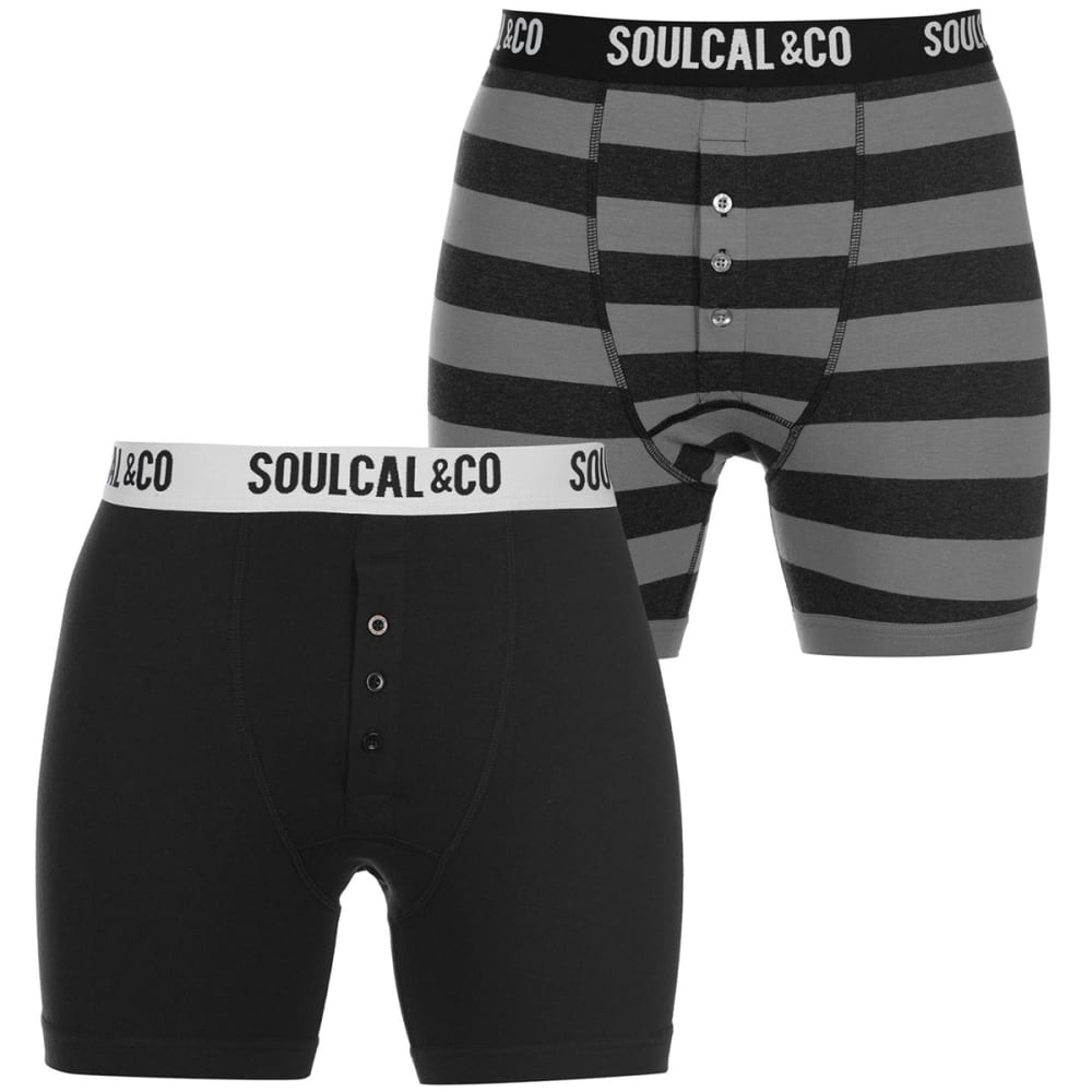SOULCAL Men's Boxers, 2-Pack S