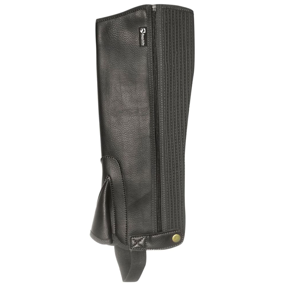 REQUISITE Kids' Synthetic Riding Chaps - BLACK