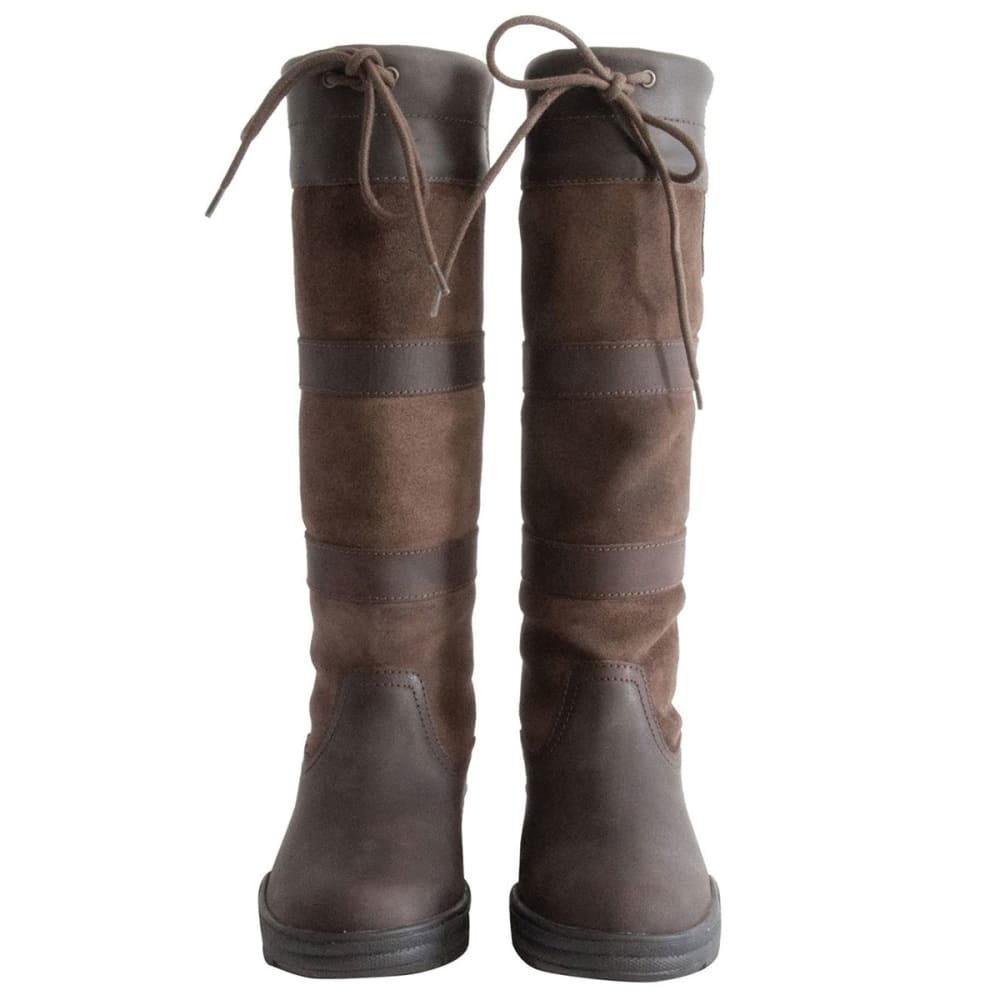 REQUISITE Women's Granger Country Waterproof Tall Riding Boots - BROWN
