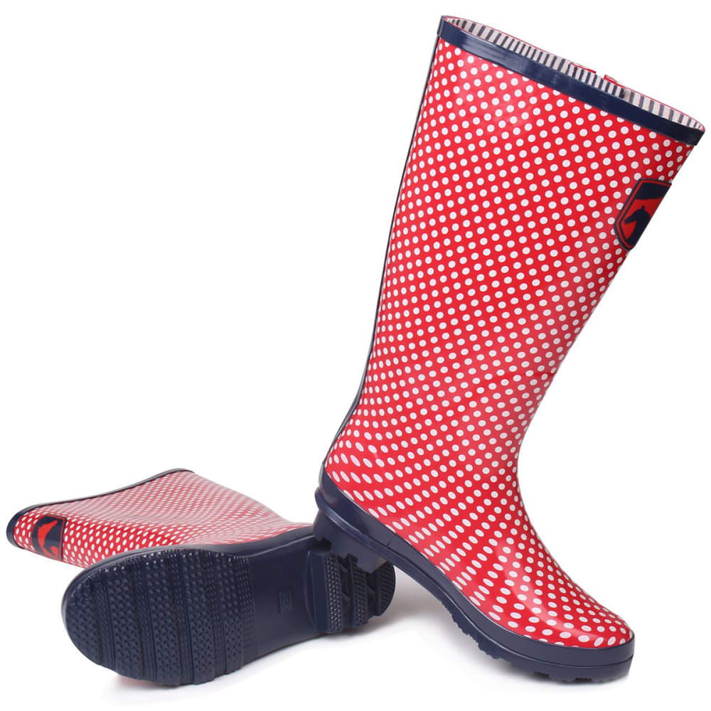 REQUISITE Women's Spot Tall Rain Boots - RED