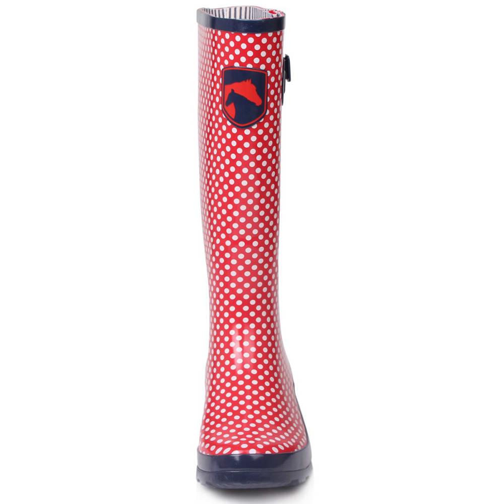 REQUISITE Women's Spot Tall Rain Boots - RED
