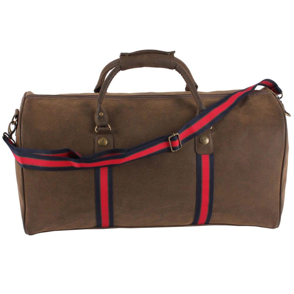 KANGOL Antique Holdall Duffel Bag - BROWN