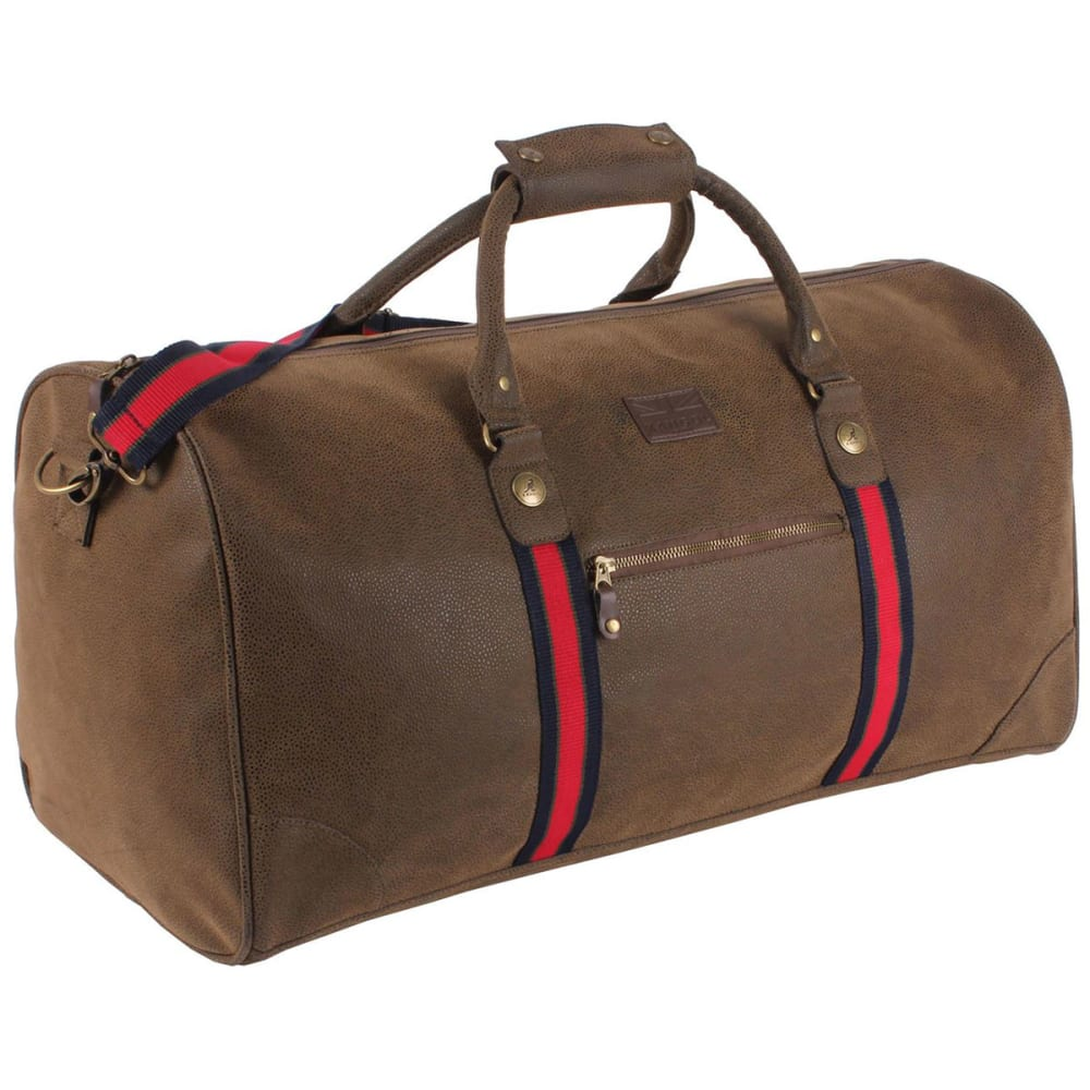 KANGOL Antique Holdall Duffel Bag - BROWN