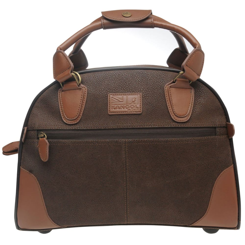 KANGOL Carry-On Bag, XS - BROWN
