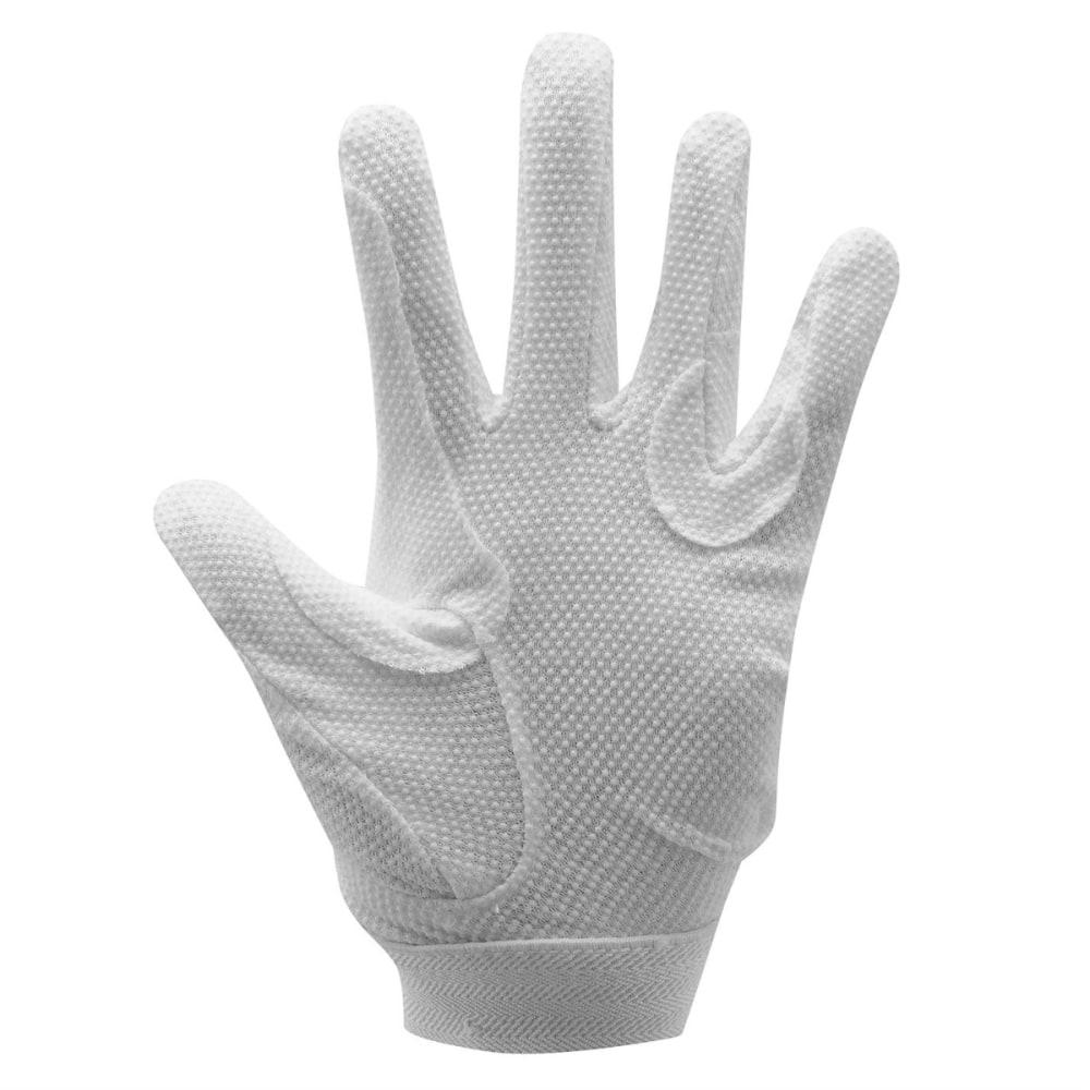 REQUISITE Women's Cotton Grip Riding Gloves - WHITE