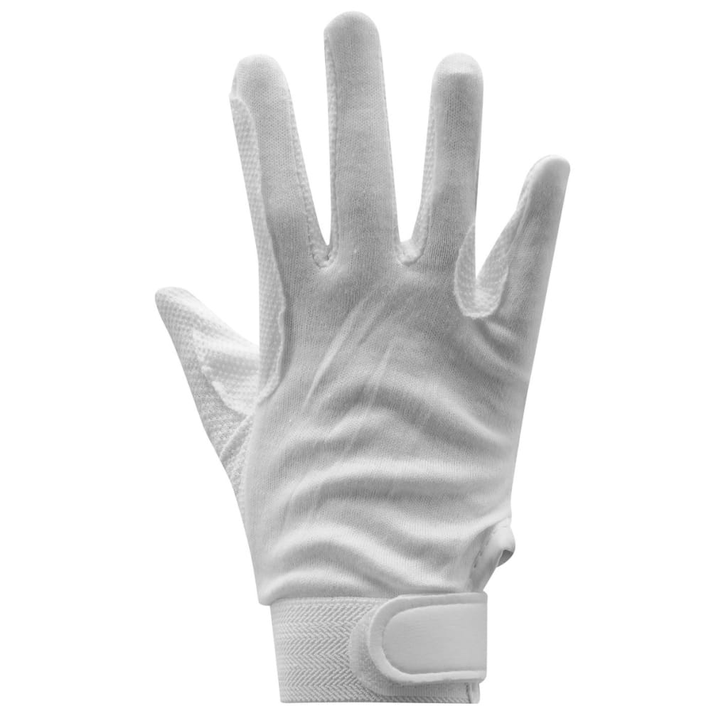 REQUISITE Women's Cotton Grip Riding Gloves - WHITE