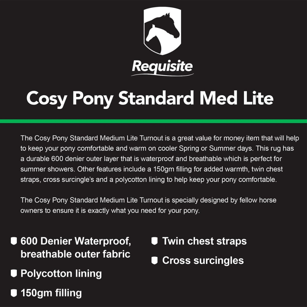 COSY PONY Standard Medium Lite Standard Turnout - NAVY