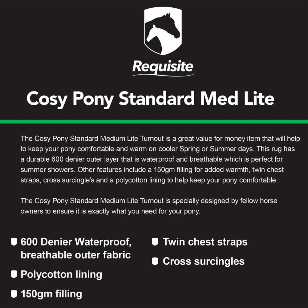COSY PONY Standard Medium Lite Standard Turnout - NAVY