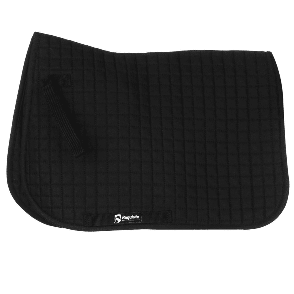 REQUISITE Everyday Horse Saddlecloth - BLACK