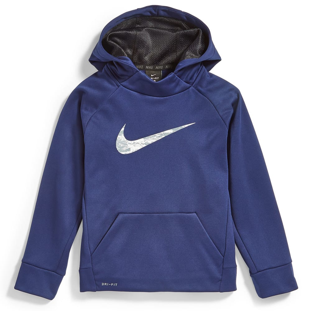 NIKE Little Boys' Swoosh Therma Pullover Hoodie - BINARY BLUE-B9K