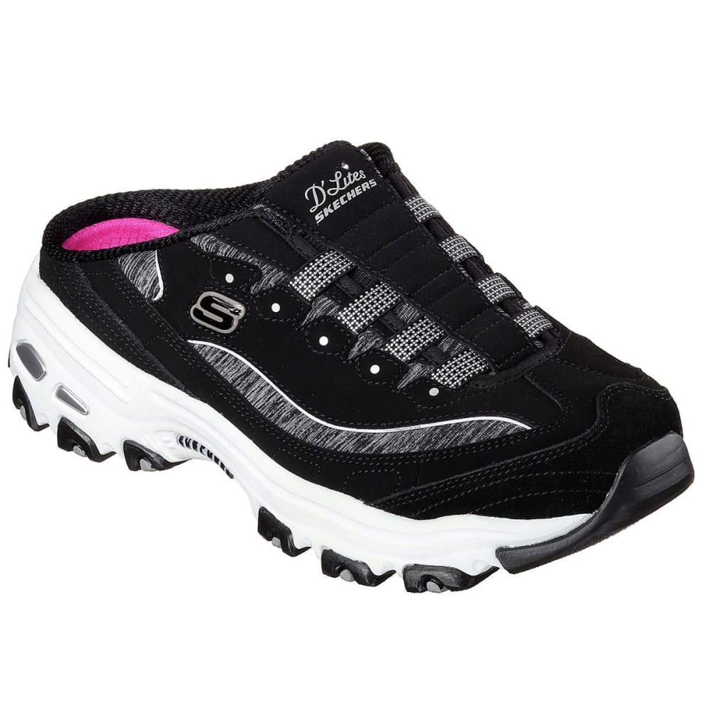 Skechers Women's D'lites -  Resilient Slip-On Sneakers - Black, 7.5