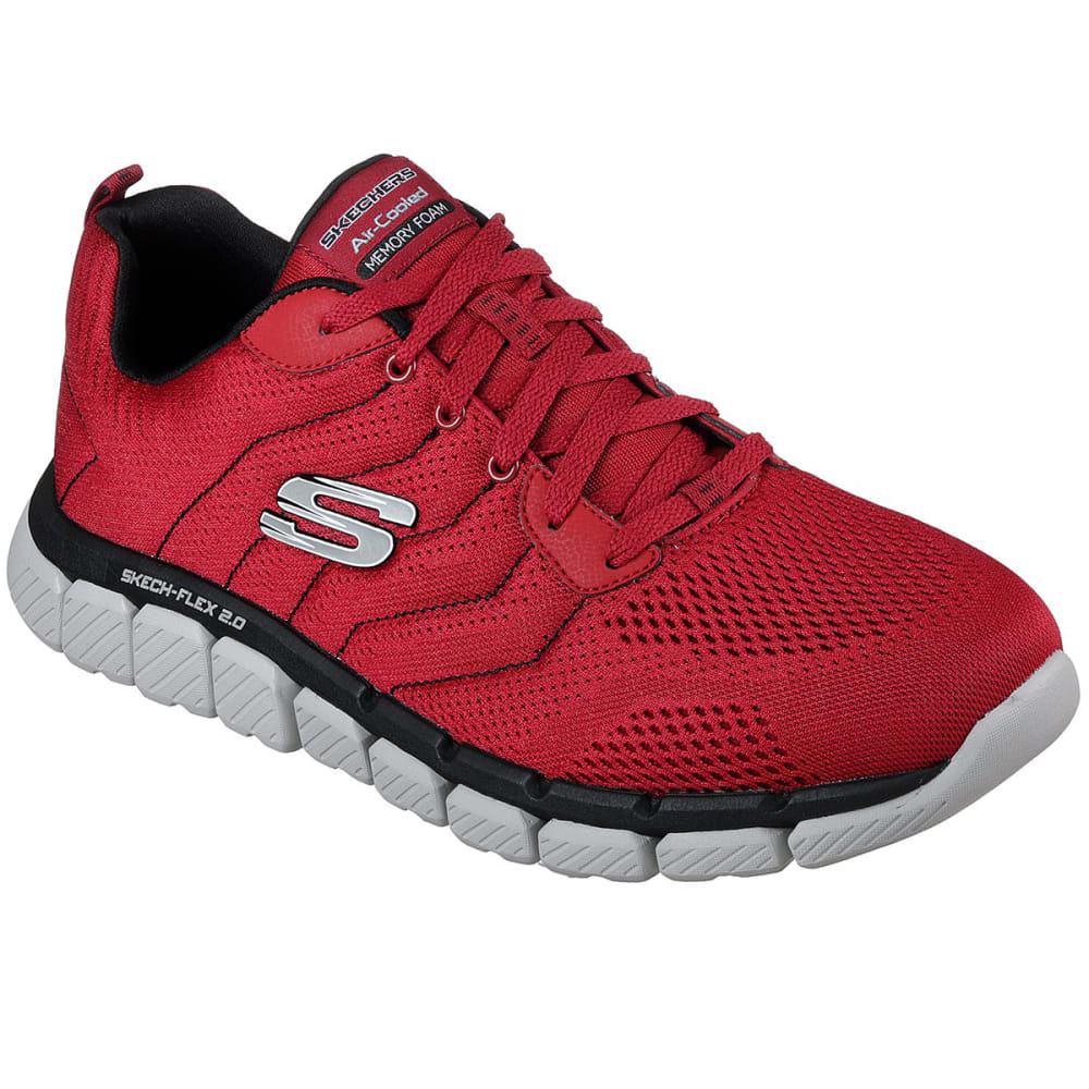 Skechers Men's Skech-Flex 2.0 - Milwee Training Shoes, Wide - Red, 10.5
