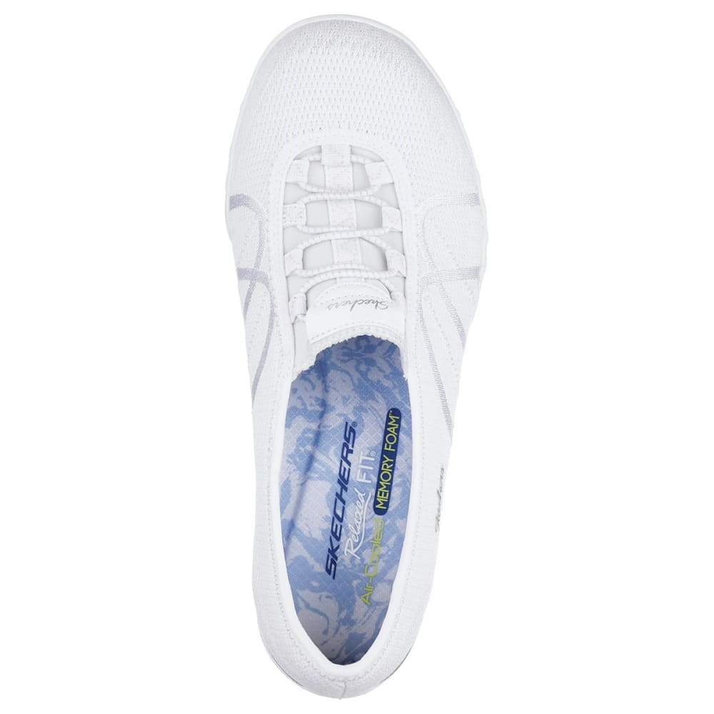 SKECHERS Women's Relaxed Fit: Breathe Easy - Sweet Jam Casual Slip-On Shoes - WHITE-WHT