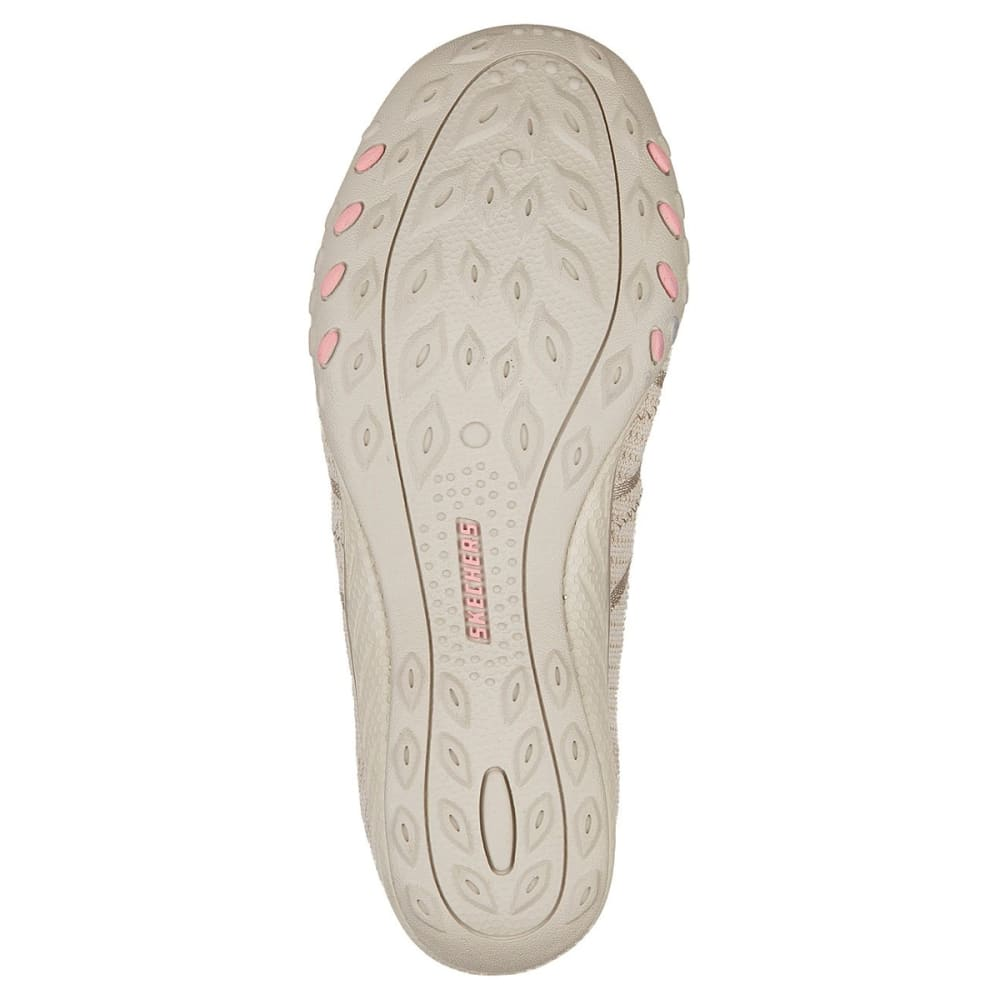 SKECHERS Women's Relaxed Fit: Breathe Easy - Sweet Jam Casual Slip-On Shoes - NATURAL-NAT