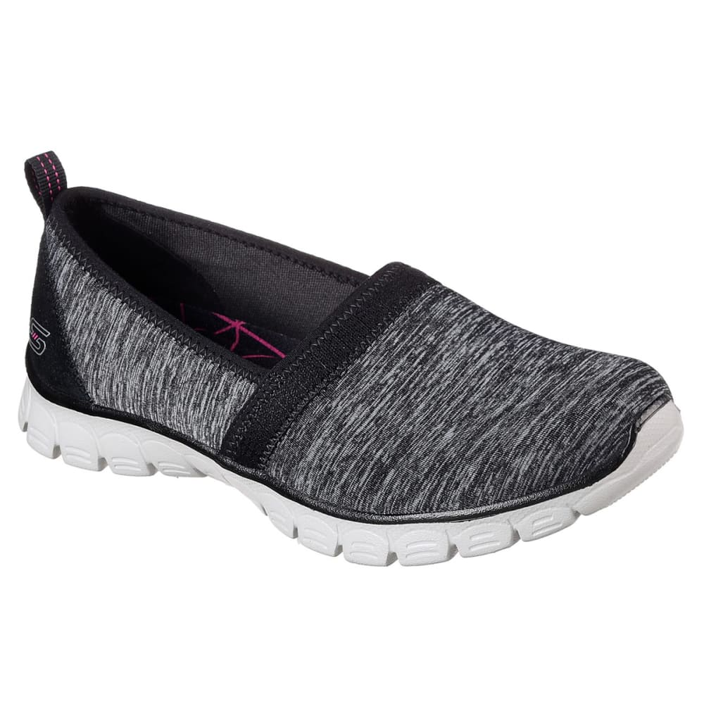 SKECHERS Women's EZ Flex 3.0 - Swift Motion Casual Slip-On Shoes - BLK/GRY