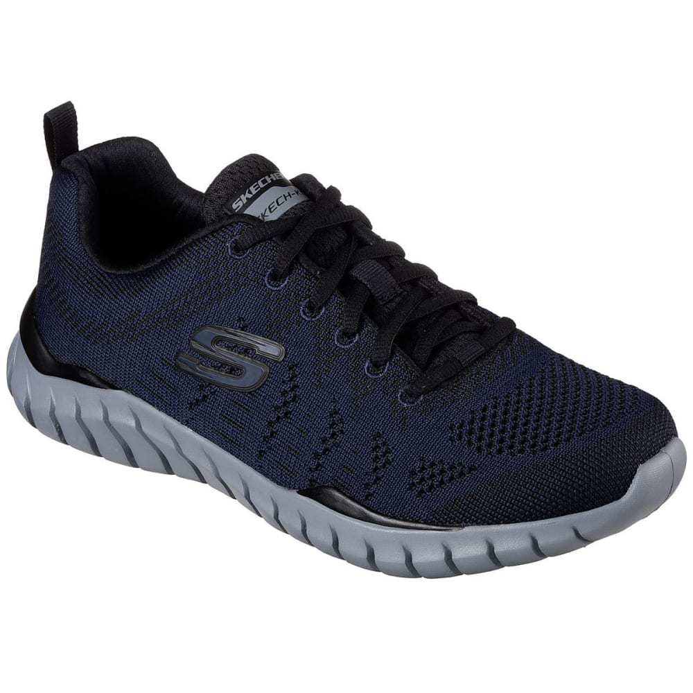"SKECHERS Men's Overhaul """" Debbir Sneakers, Wide - NAVY/BLK NVBK"