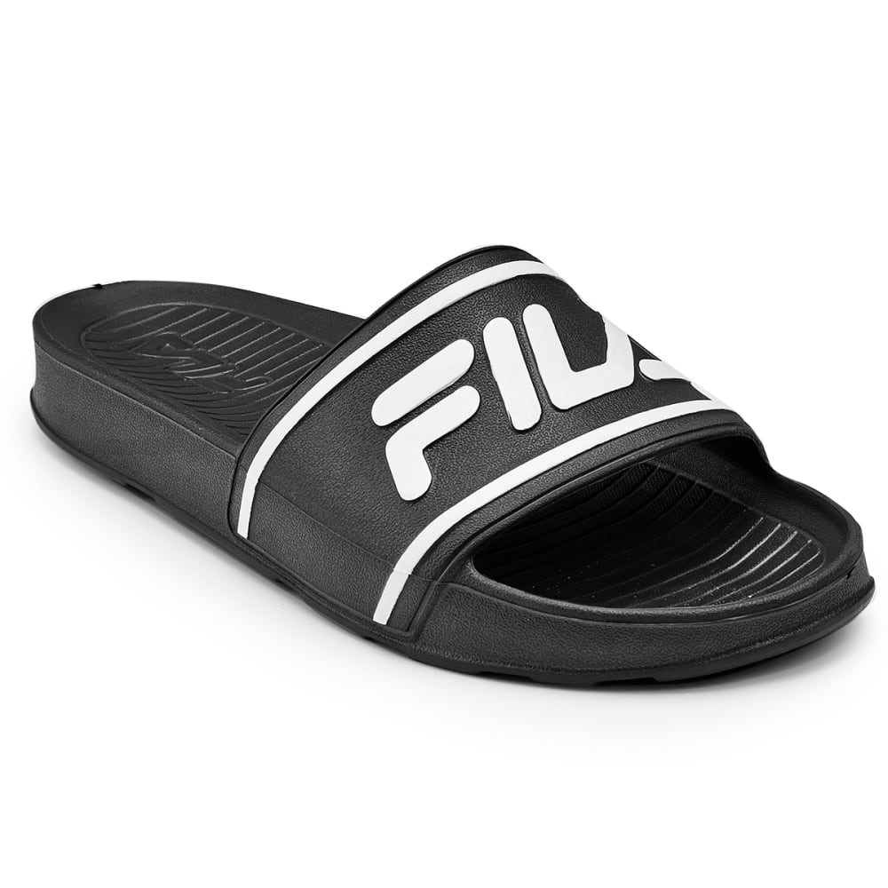 FILA Men's Sleek Slide It Sandals - BLACK - 021
