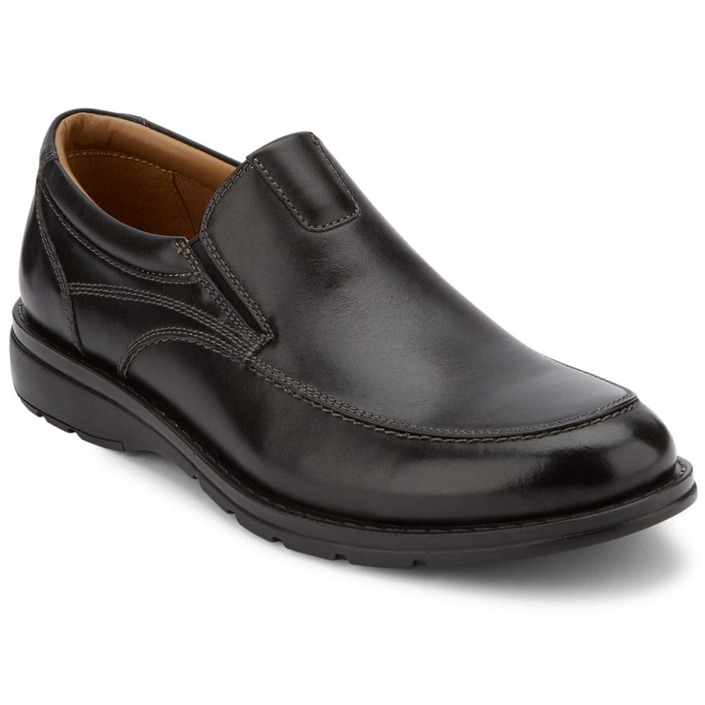 DOCKERS Men's Calamar Slip-On Shoes, Black - BLACK