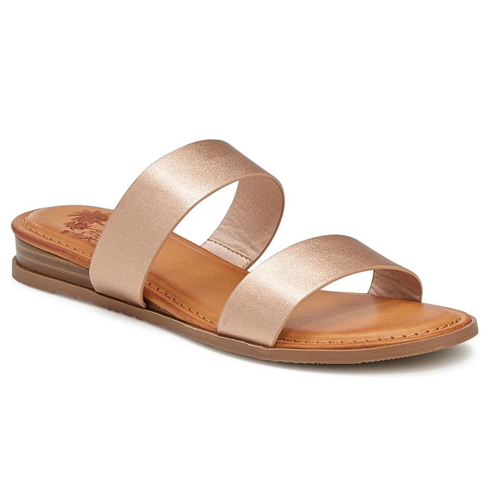 JELLYPOP Women's Kirara Wedge Sandals - ROSE GOLD-JTGMS690