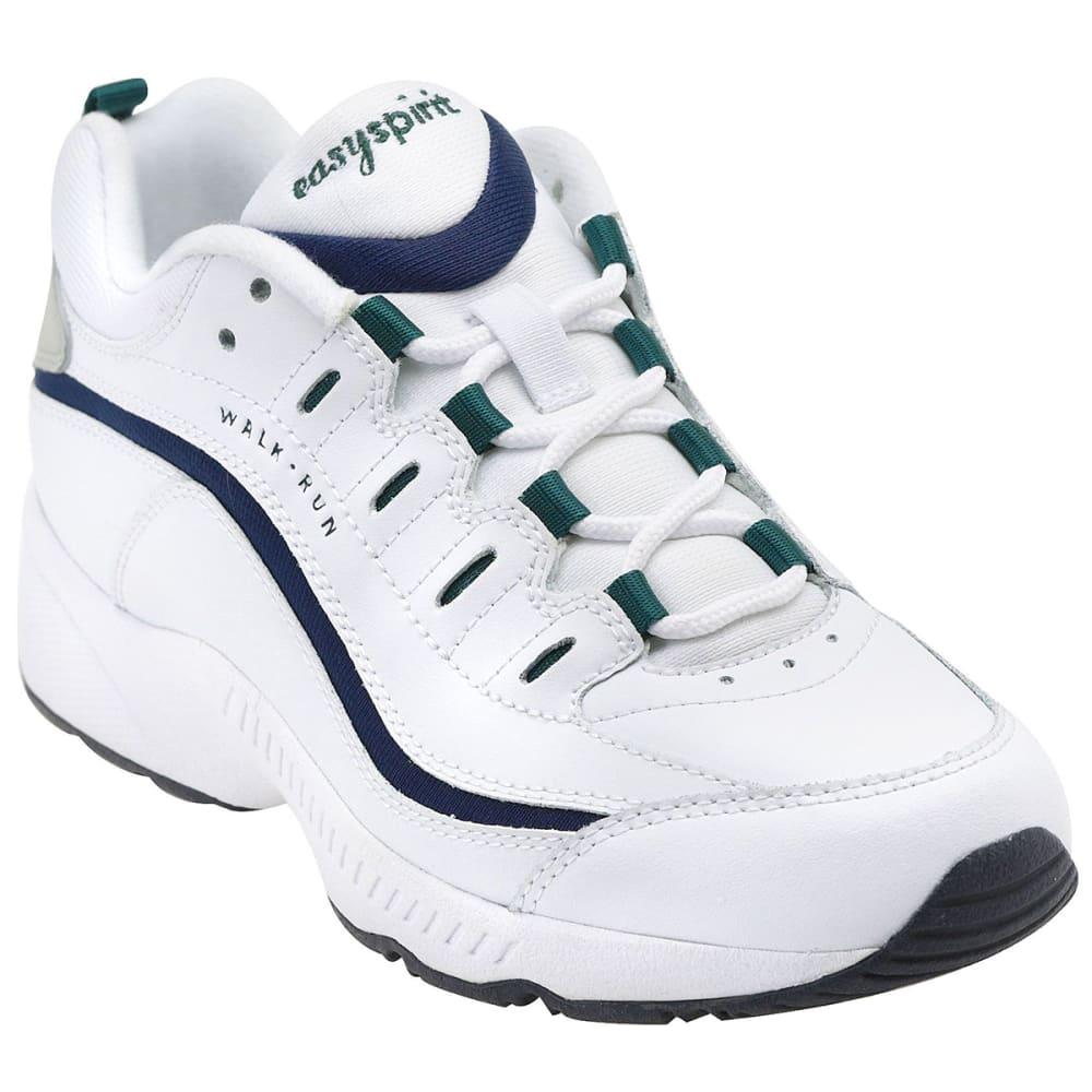 EASY SPIRIT Women's Romy Sneakers, White/Navy/Grey 6