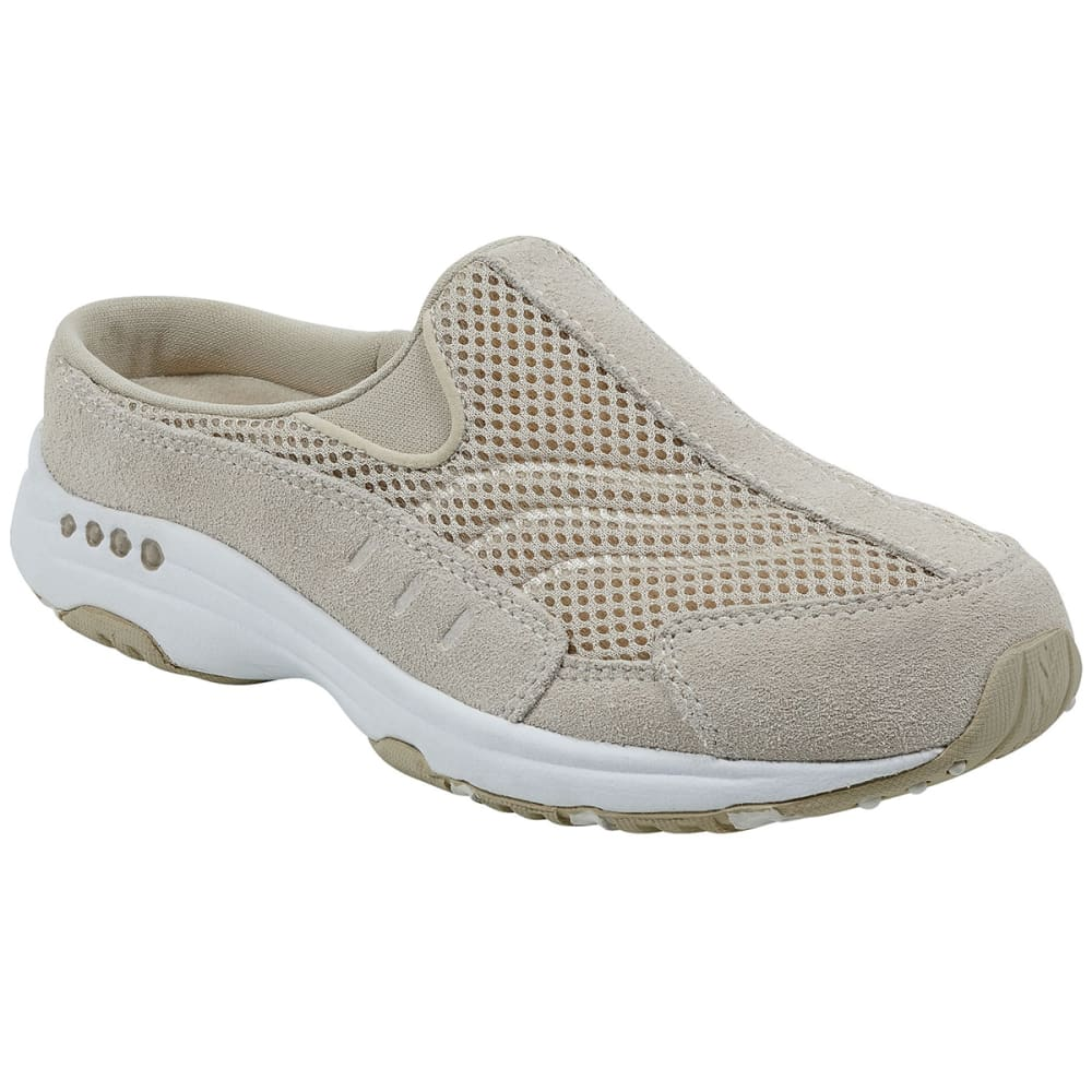 Easy Spirit Women's Traveltime Sneaker Clogs, Woodash/white